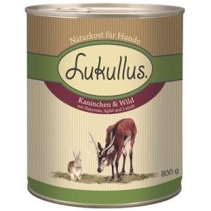 Lukullus Kaninchen & Wild - 6 x 400 g