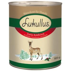 Lukullus Winter-Menü: Zartes Rehfleisch - 6 x 800 g