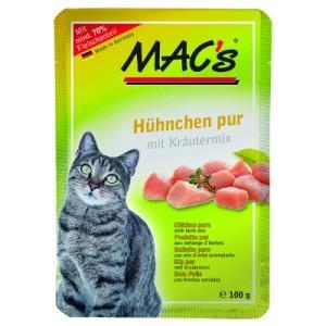 MAC´s Cat Pouch 6 x 100 g - Hühnchen Pur