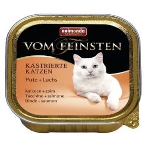 Megapack Animonda vom Feinsten kastrierte Katzen 36 x 100 g - Pute & Lachs