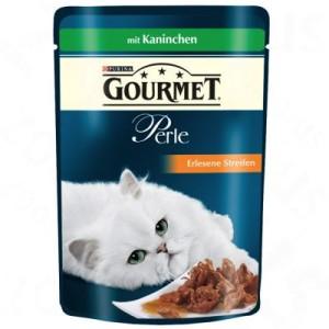 Megapack Gourmet Perle 24 x 85 g - Erlesene Streifen mit Kaninchen