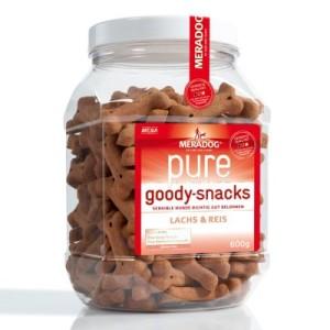 Meradog pure Goody Snacks - 3 x 600 g Lachs & Reis