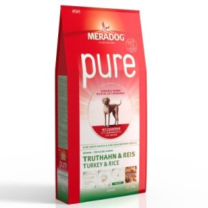 Meradog pure Senior Truthahn & Reis - Sparpaket: 2 x 12