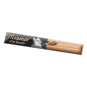 Miamor Cat Confect Leberwurst-Cream - 6 x 15 g