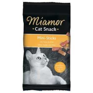 Miamor Cat Confect Mini-Sticks - 3 x Huhn & Ente (á 50 g)