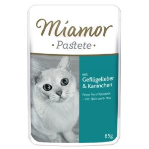 Miamor Pastete Pouch 12 x 85 g - mit Geflügel & Lachs