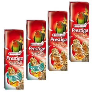 Mixed Pack Versele-Laga Prestige Sticks Großsittiche - 4 x 2 Sticks (560g)