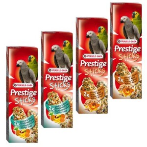 Mixed Pack Versele-Laga Prestige Sticks Papageien - 4 x 2 Sticks (560g)