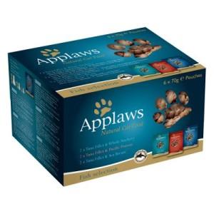 Mixpack Applaws Pouch Katzenfutter 6 x 70 g - Fischauswahl