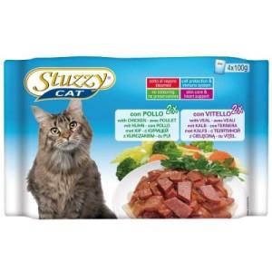 Mixpack Stuzzy Cat Pouch 4 x 100 g - Schinken/Rind