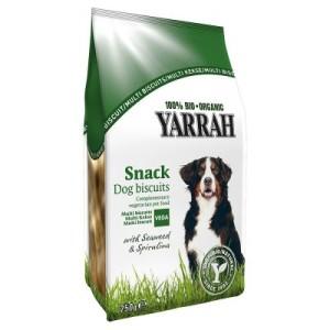 Mixpaket: 2 x Sorten Yarrah Bio Hundesnacks testen - 750 g Keks + 6 x 33 g Kausticks