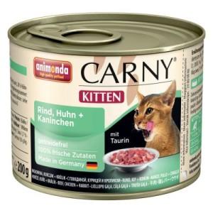 Mixpaket Animonda Carny Kitten 12 x 200 g - 4 Sorten mit Rind und Geflügel