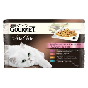 Multipack - Gourmet A la Carte 4 x 85 g - Huhn