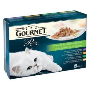 Multipack Gourmet Perle 8 x 85 g - Erlesene Streifen mit Gemüse