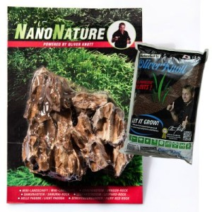 NanoNature Drachenstein Set - 5 Steine + 3 Liter NatureSoil schwarz
