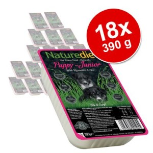 Naturediet Puppy/Junior 18 x 390 g - Huhn & Lamm