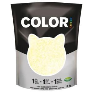 Nullodor Color Katzenstreu - Sparpaket: gelb 3 x 1