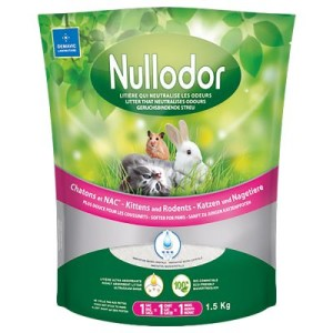 Nullodor Silikatstreu für Katzen und Kleintiere - 2 x 1