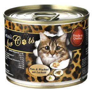 O´Canis for Cats 6 x 200 g - Kaninchen & Huhn mit Lachsöl