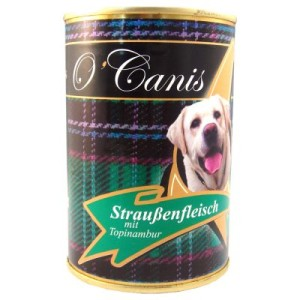 O'Canis Straussenfleisch & Topinambur - Sparpaket: 24 x 400 g