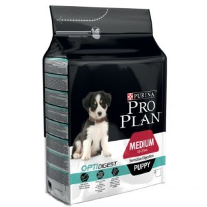 PRO PLAN Medium Puppy Sensitive Digestion OPTIDIGEST - Sparpaket 2 x 12 kg