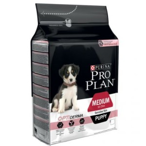 PRO PLAN Medium Puppy Sensitive Skin OPTIDERMA - Sparpaket 2 x 12 kg