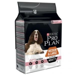 PRO PLAN Medium/Large Adult 7+ Sensitive Skin OPTIDERMA - 14 kg