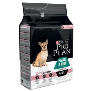 PRO PLAN Small & Mini Adult Sensitive Skin OPTIDERMA - 3 kg