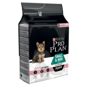 PRO PLAN Small & Mini Puppy Sensitive Skin OPTIDERMA - Sparpaket 3 x 3 kg