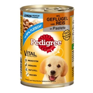 Pedigree Junior Classic 12 x 400 g - Geflügel & Reis