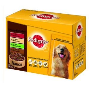"Pedigree Pouch Multipack ""Unsere Klassiker"" in Sauce - 12 x 100 g"