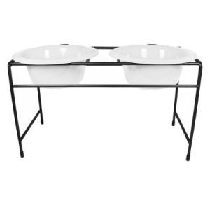 Platinum Pets Modern Diner Doppelnapfständer Pearl White - 2 x 175 ml