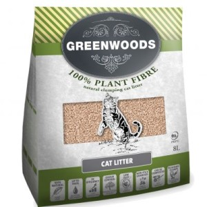 Probiergröße Greenwoods Katzenstreu zum Sonderpreis - Plant Fibre 8 l