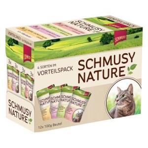 Probierpack Schmusy Nature im Frischebeutel 12 x 100 g - Huhn