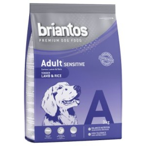 Probierpaket Briantos Sensitive 3 kg & Happy Dog 4 kg - Lamm & Reis