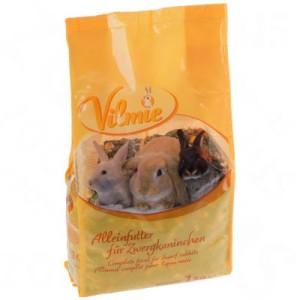 Probierpaket: Vilmie Nagerfutter + Mr.Woodfield Knabberrolle - Zwergkaninchenfutter 1 kg + Knabberrolle