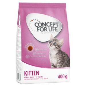 Probierset Kitten: 400 g Concept for Life + Cosma Nature - Set 2: 6 x 70 g cosma nature mit Hühnchen & Thunfisch