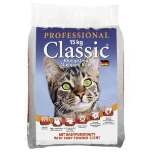 Professional Classic Katzenstreu mit Babypuderduft - Sparpaket 2 x 15 kg