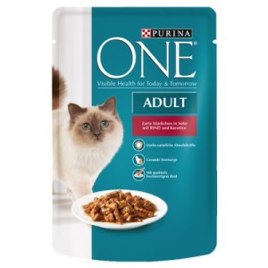 Purina One Adult - mit Rind & Karotten (24 x 85 g)