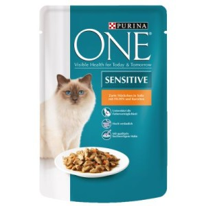Purina One Sensitive - mit Huhn & Karotten (6 x 85 g)