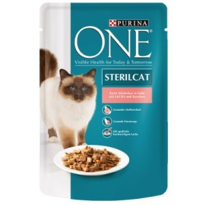 Purina One Sterilised - mit Lachs & Karotten (24 x 85 g)