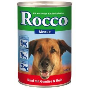 Rocco Menue 6 x 400 g - Rind mit Gemüse & Reis