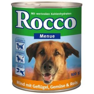 Rocco Menue 6 x 800 g - Rind mit Gemüse & Reis