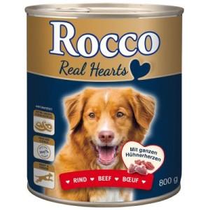 Rocco Real Hearts 6 x 800 g - Rind mit ganzen Hühnerherzen