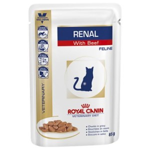 Royal Canin Renal - Veterinary Diet mit Rind oder Huhn - Rind 12 x 85 g