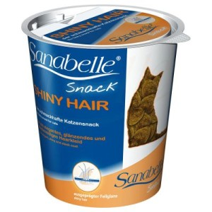 Sanabelle Snack Shiny Hair - Sparpaket: 3 x 150 g