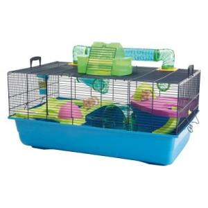 Savic Nagerkäfig Hamster Heaven 80 - blau/grün: L 80 x B 50 x H 50 cm