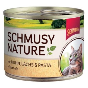 Schmusy Nature Dose 6 x 190 g - Kitten: Kalb
