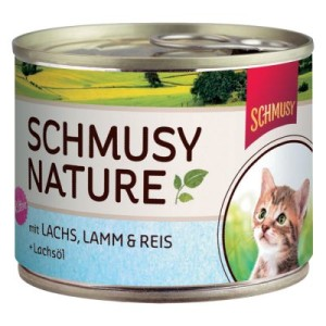 Schmusy Nature Kitten 6 x 190 g - Lachs