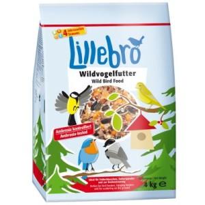 Set: Futterspender + 4 kg Lillebro Wildvogelfutter - 2-teiliges Set